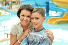 Boy with his mother Stock Photo