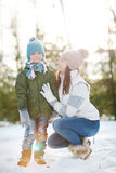 Boy and his mother Royalty Free Stock Photos