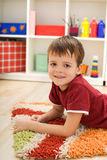 Boy in his room Royalty Free Stock Photo