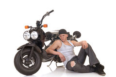Boy and his scooter Stock Image
