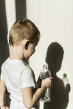 Boy and his shadow Stock Images