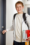 Boy on his way to class Royalty Free Stock Images
