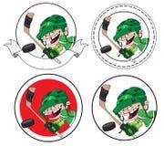 Boy hockey banner Stock Images