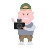 Boy hold the camera Stock Image