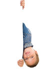 Boy hold white paper Stock Photography