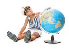 Free Boy Holding A Globe Royalty Free Stock Images - 190832839