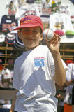 Boy Holding Autographed Baseball, Fenway Park, Boston, Massachusetts Stock Images