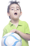 Boy holding a ball Royalty Free Stock Images