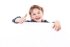 Boy holding a banner Stock Photos
