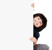Boy holding banner Stock Photography