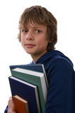 Boy holding Books Royalty Free Stock Photos