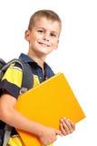 Boy holding books Royalty Free Stock Image