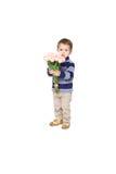 Boy holding a bouquet Royalty Free Stock Photos