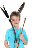 Boy holding bow and arrow Royalty Free Stock Photos
