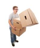 Boy holding a box Royalty Free Stock Photo