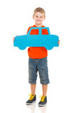 Boy holding car Royalty Free Stock Photography