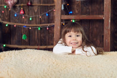 Boy holding Christmas presents Royalty Free Stock Photography