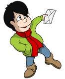 Boy Holding Envelope Royalty Free Stock Photos