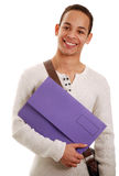 Boy holding folder Royalty Free Stock Image