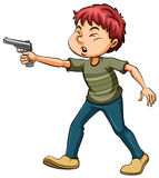 Boy holding a gun Stock Photos