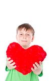 Boy holding a heart Stock Photo
