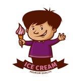 Boy holding ice cream cone Stock Image