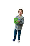 Boy holding the letter B Stock Photo