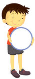 A Boy Holding Mirror Royalty Free Stock Images