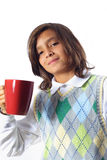 Boy Holding a Mug Royalty Free Stock Photography
