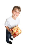 Boy holding present Royalty Free Stock Photography