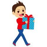 Boy Holding Present Royalty Free Stock Photo