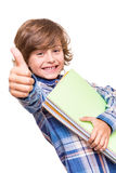 Boy holding school books Royalty Free Stock Photos