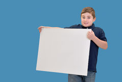Boy Holding Sign Royalty Free Stock Photo
