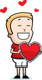Boy Holding Valentine Royalty Free Stock Photos
