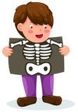 Boy Holding X-ray Stock Photos