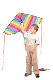 Boy holds kite Stock Photography