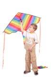 Boy holds kite Stock Photography