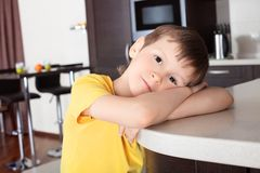 Boy at home Stock Images