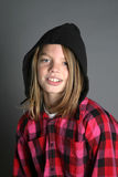 Boy with hood Stock Photo