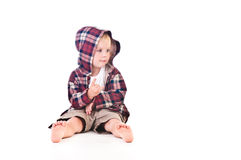Boy in the hood Royalty Free Stock Image