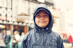 Boy in the hood Stock Photography