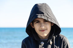 Boy with hood portrait Royalty Free Stock Photos