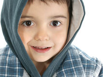 Boy with Hooded Jacket Stock Photos