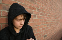 Boy in hooded top Royalty Free Stock Image