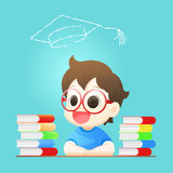 The boy hope to sucecess for the graduate. Back to school Stock Image