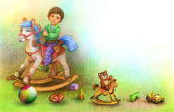 Boy on a horse Royalty Free Stock Image