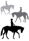 Boy on horse Royalty Free Stock Photo