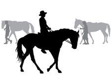 Boy on horse Stock Photo