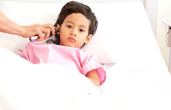Boy in hospital Royalty Free Stock Image