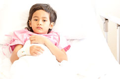 Boy in hospital Stock Photography